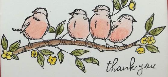 Free As A Bird Coloring Card