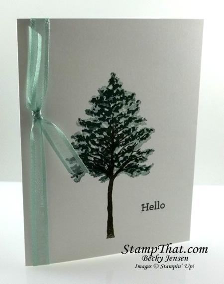 Simple Handstamped Card