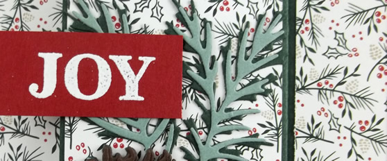 Joy Christmas Card in Traditional Colors
